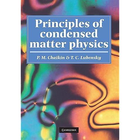 Principles of Condensed Matter