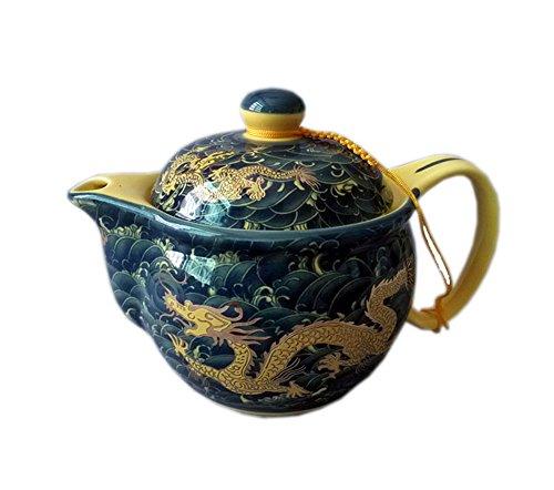 Golden Dragon Porzellan-Teekanne, China Tee-Kessel Geschenk für Freund