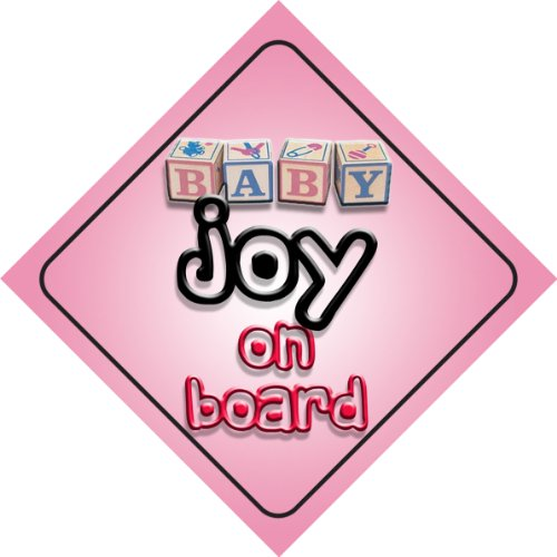Panneau de voiture Baby Girl Joy on board Cadeau pour nouveau-né