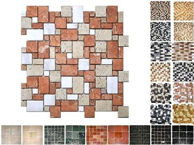 1 QM Marmor Mosaik Chiaso Opus von Mosaikdiscount24 bei TapetenShop