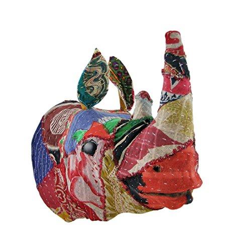 riciclato-305-cm-tessuto-coperto-rhinoceros-head-wall-mount-busto