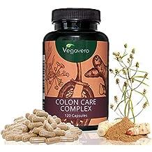 Colon Care Complex Vegavero | 120 Kapseln | Flohsamenschalen - Fenchel – Cayenne Pfeffer – Ingwer – Galgant | Hochwertige Extrakte | Vegan und OHNE Zusatzstoffe