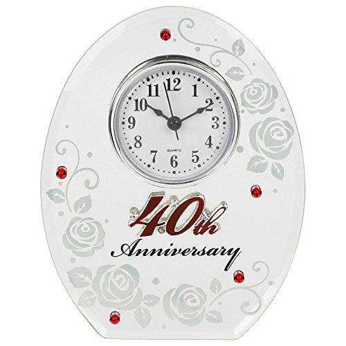 Shudehill orologio ovale con rubino, ottima idea regalo per 40esimo anniversario di matrimonio