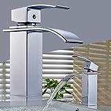 Auralum Bad Wasserhahn Einhandmischer Waschbecken Armatur waschtischarmatur Hoch Wasserfall