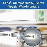 Klemmschiene Switch Spezial Softgummi, Wandklemmschiene, Klemmleiste weiß Aluminium