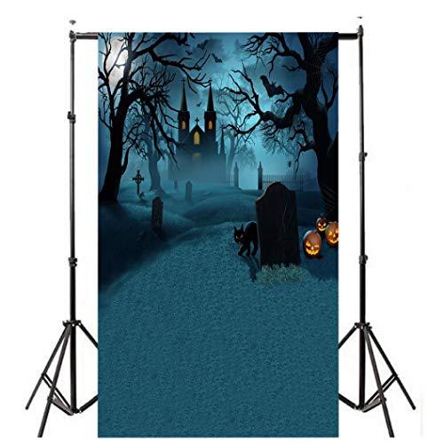 LANDFOX Märchen Kinder Kulisse Fotografie Bildhintergrund Backdrops Hintergrund Foto Props für Studio Party Halloween Kulissen Kürbis Vinyl Laterne Hintergrund Fotografie