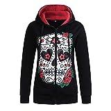 TOPKEAL Hoodie Pullover Damen Herbst Winter Kapuzenpullover Sweatshirt Taro Print mit Kapuze Winterpullover Langarm Jacke Mantel Tops Mode 2018