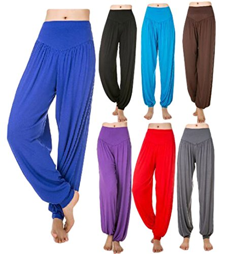 Scothen Mesdames pantalons survêtement Uma Pant doux pantalon spandex Yoga Pilates 16 couleurs sarouel bloomers sarouel confortable douce Yoga Modal Pant stretch Sport Aladin Lounge Pants Fitness Jaune