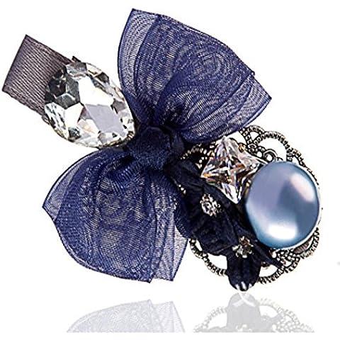 F&HY&L Corea-upscale ladies headwear perla imitazione diamante-amare farfalla clip laterale clip strass BB clip clip top , sapphire blue