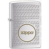 Zippo 60001052 Logo Briquet Laiton Chromé Brossé 3,5 x 1 x 5,5 cm