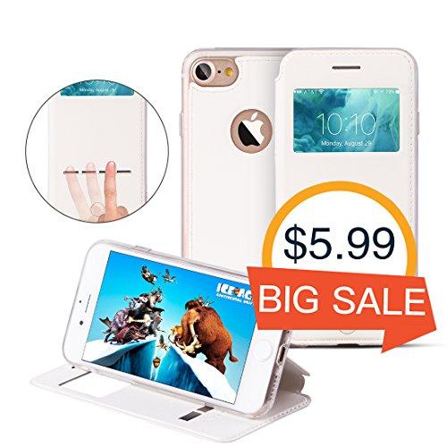 Étui Folio iPhone 7 Sense G-CASE Noir Blanc