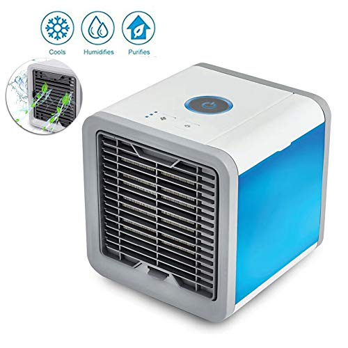 GMACCE Mini Air Cooler, Personal Space Cooling Fans, Fan evapolar Befeuchter Portable, 3 Gear Speed, Device Home Office Desk Air Conditioner The Quick Easy Way to Cool Any Space