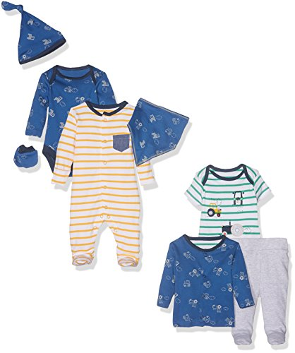 mothercare-boys-8pc-set-newborn-little-farmer-body-bebe-garcon-bleu-premature