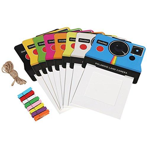 Polaroid bunte Vintage Bilderrahmen für 3x4 (7.6x10 cm) Polaroid I-Type, 600 Film (OneStep 2)