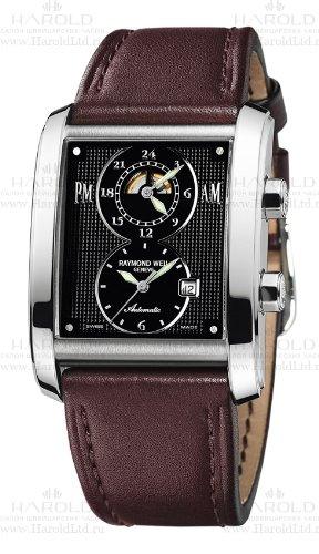 raymond-weil-2888-stc-20001-mouvement-automatique-affichage-analogique-brun-et-cadran-noir-mixte