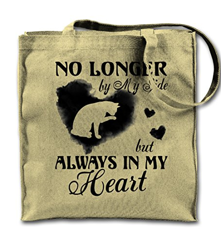 No Longer By My Side But Always In My Heart Pet Cat Natural Canvas Tote Bag, Cloth Shopping Shoulder Bag -