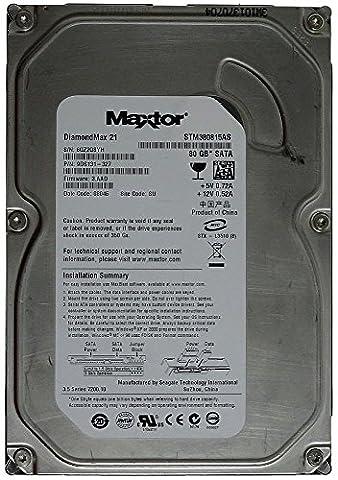 80GB stm380815as Maxtor DiamondMax Plus 9Disque dur interne 21SATA