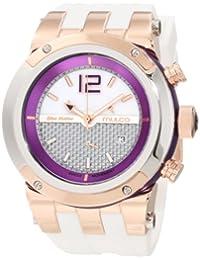Mulco MW5-1621-151 - Reloj unisex, correa de goma color blanco