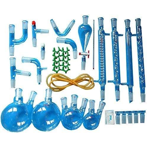 Labor Ätherisches Öl Destillierapparat Wasserreiniger Destillierapparat Glaswerkzeug Kits Mit Kondensatorrohrkolben Vollen Satz -