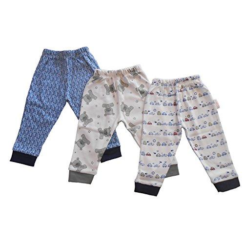 NammaBaby Ribbed Hem Pajama MIXED PRINTS - SET OF 3 (2-3 years)
