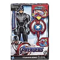 Marvel Avengers: Endgame - Captain America Titan Hero con Power FX incluso (Action Figure da 30 cm)