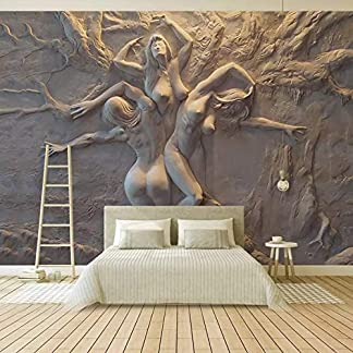 Papel Pintado Europeo 3D Estereoscópico En Relieve Belleza Abstracta Arte Corporal Fondo Pintura De La Pared Sala De Estar Dormitorio Mural Personalizados (W)400x(H)280cm