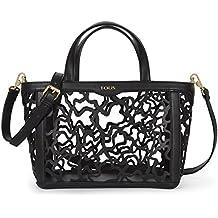 Tous Capazo Pequeño Kaos Shock, Shopper para Mujer, Negro (Black), 14x21x28 cm (W x H x L)