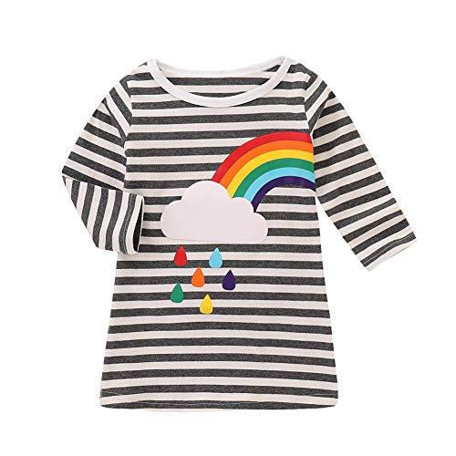 Kostüm Für Passenden Niedlich Schwestern - JUNERAIN süßes Baby-Kostüm für Mädchen, Regenbogen-Kleid, Kinder, Schwester, passende Kleidung 120 cm Rainbow Left # 4T