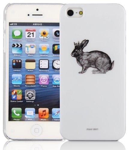 JAMMYLIZARD   Coque iPhone 5s et iPhone SE cover rigide motif art moderne, Cubisme aztèque HISPTER - LIÈVRE COURONNÉ