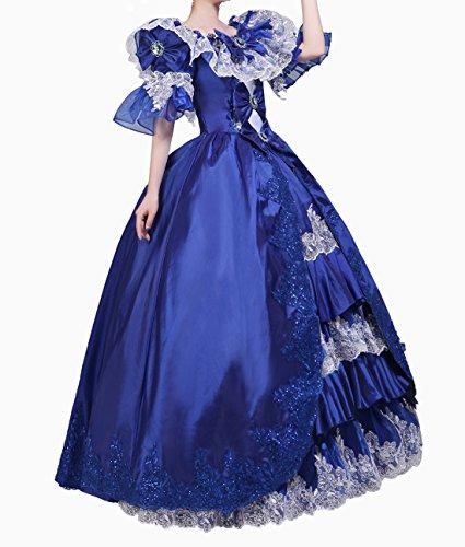 Mittelalterliche Kleid Viktorianisch Kleider Nuoqi Palace Damen g7IymYbfv6