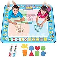 سجادة رسم من اميرتير بألوان سحرية كبيرة مناسبة للأطفال بعمر 2 3 4 5 سنوات للأولاد والبنات والأطفال الكبار، هدايا تعليمية مبتكرة ولوحة مائية سحرية مقاس 40×30 انش ألعاب الأطفال الصغار