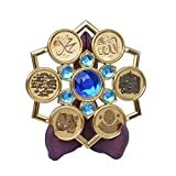 Ajmer Sharif Islamic Gift Allah Muhammed Ayat Surah Fateha Qul Pendal Wooden Stand Blessed with Holy Khwaja Garib Namaz from Ajmer Sharif Dargah 786