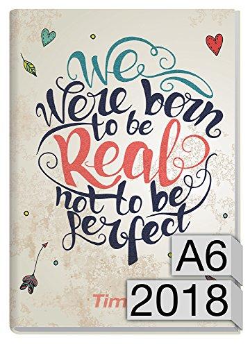 Chäff-Timer mini A6 Kalender 2018 [Born to be real] 12 Monate Jan-Dez 2018 - Terminkalender mit Wochenplaner - Organizer - Wochenkalender