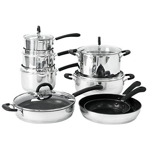 ProCook Gourmet Steel Induction Cookware Set 8 Piece - JANUARY SALE!