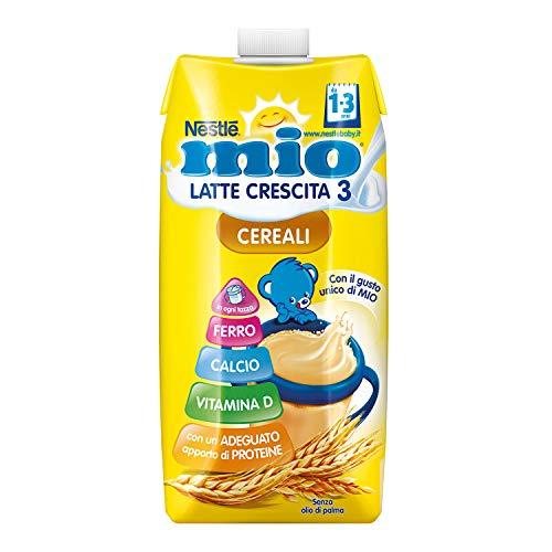 Nestlé Mio Latte Cereali Latte Liquido per la Crescita da 1 Anno 12 Brik da 500 ml