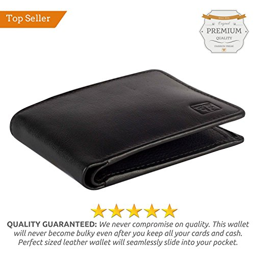 f5b321e8a61c Buy Fashion Freak Genuine Leather Bi Fold Black Men s Wallet on Amazon