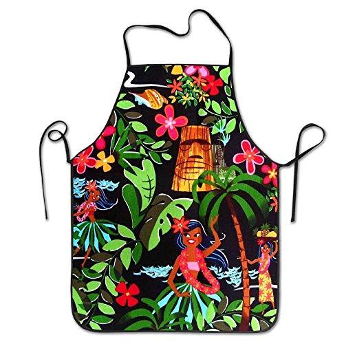 LarissaHi Benutzerdefinierte Koch Schürze lustige Lätzchen Hawaiian Aloha für Frauen Männer Kellnerin Backen basteln Garten Kochen Girlling Barber - Benutzerdefinierte Kostüm Schmuck Designs