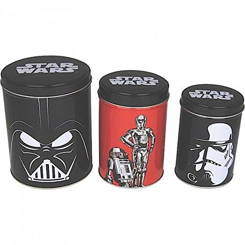 Star Wars - Blechdosen 3er Set - Darth Vader & Trooper Vs. R2D2 & C3PO