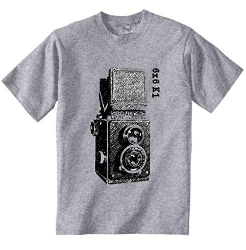 Teesquare1st Men's VINTAGE CAMERA 6X6 K1 Grey T-Shirt Size XXXLarge
