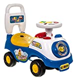 Hillington My First Ride On and Push Along Buggy Car Colourful First Steps Toddler Walker Learning Toy with Sounds and Accessories