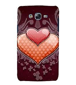 PrintVisa Hearts On Pattern 3D Hard Polycarbonate Designer Back Case Cover for Samsung Galaxy J7 J700F (2015) :: Samsung Galaxy J7 Duos :: Samsung Galaxy J7 J700M J700H
