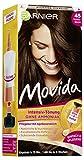 Garnier Tönung Movida, Intensiv-Tönung Haarfarbe 45 Dunkelbraun für leuchtende Farben, ohne Ammoniak, 3er Pack
