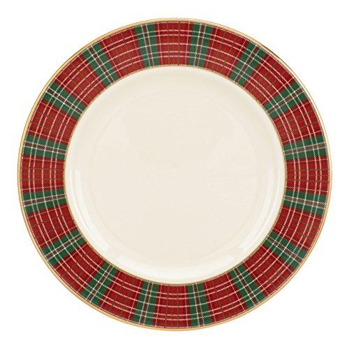 Lenox Winter Greetings Butterteller, kariert, elfenbeinfarben Salatteller 8 inches elfenbeinfarben Lenox Holiday Dessert