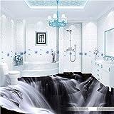 Malilove Atmosphärische Waterfall 3D Wohnzimmer Badezimmer Pvc-Boden Selbstklebende Schlafzimmer Studie Lobby Bodenbeläge Wandgemälde
