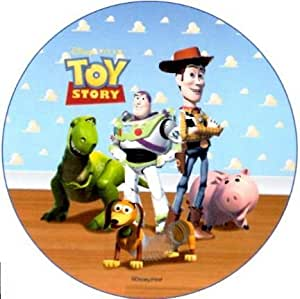 Toy Story: Woody, Buzz , Dino /Edible Rice Paper Round ...