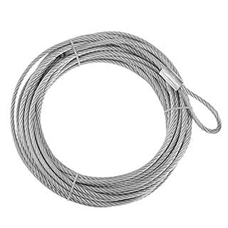 D DOLITY 1 Stück Seilwinde Seil Wohnmobilausstattung Silber farbe Länge: 12,2 m Verhinderung für ATV, UTV