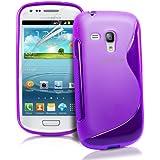 JAMMYLIZARD | S-Line Silikon Case Hülle für Samsung Galaxy S3 Mini, VIOLETT