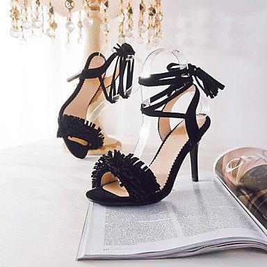 LvYuan Sandali-Casual Serata e festa-Club Shoes-A stiletto-Finta pelle-Nero Rosa Rosso Grigio Black