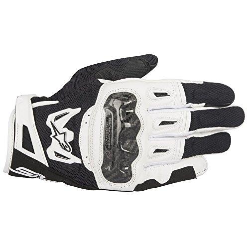 Alpinestars Handschuhe SMX-2 AIR Carbon Motorrad Leder Mesh schwarz weiß Gr. M/8