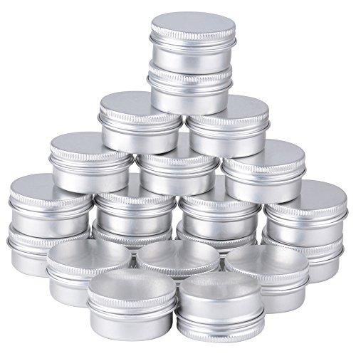Set di 20vasetti vuoto 15ml in alluminio argento Vaso cosmetico dell' Campione Per Baume a labbro coméstique oggetti di viti